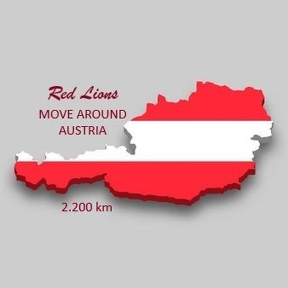 Red lions move around Austria