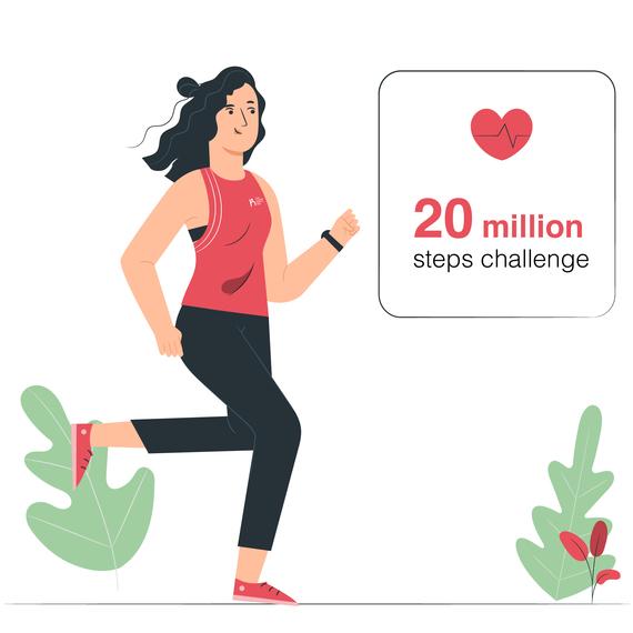 20 million steps challenge
