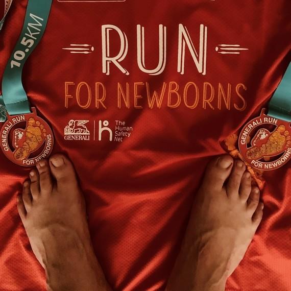 30.000 lépés futva és gyalogolva a babákért